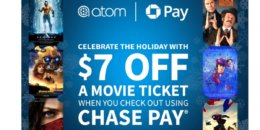 Atom Movie Tickets: $7 Off any Movie Ticket w/ Chase Pay Checkout