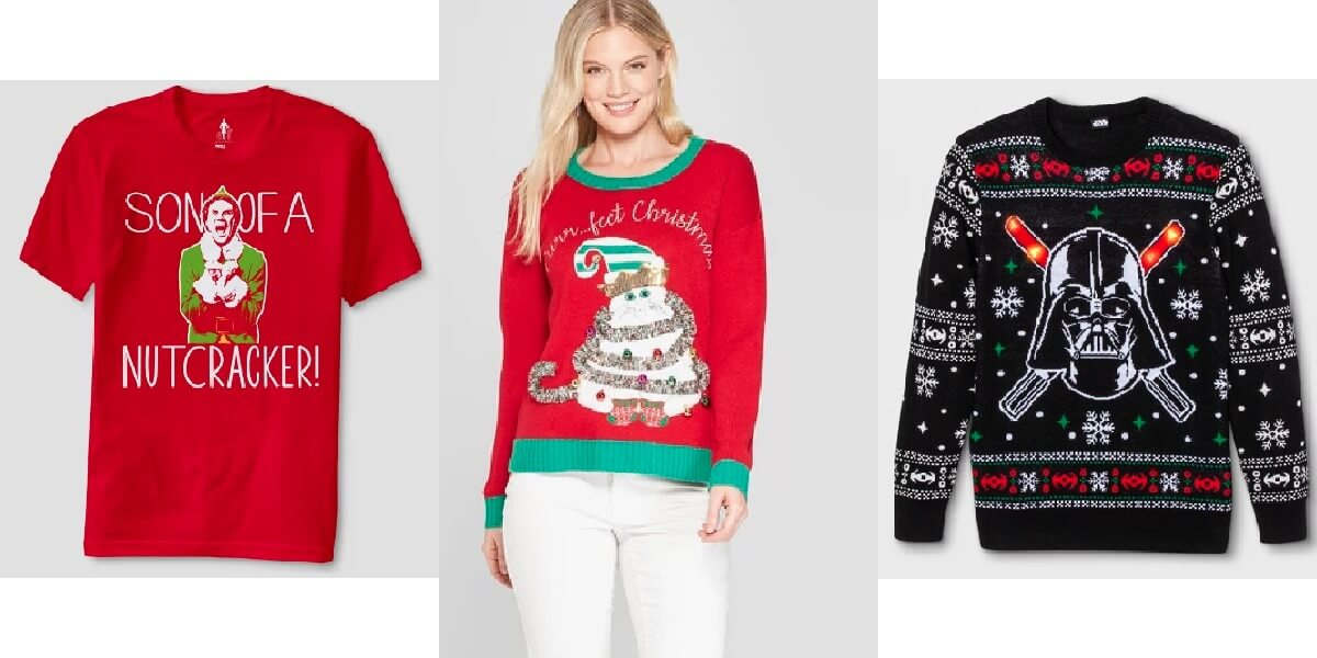 51f9a2edc08 Target  40% Off Ugly Sweaters and Tees  Elf