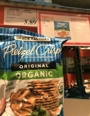 Costco:  Hot Deal on Snack Factory Organic Pretzel Crisps