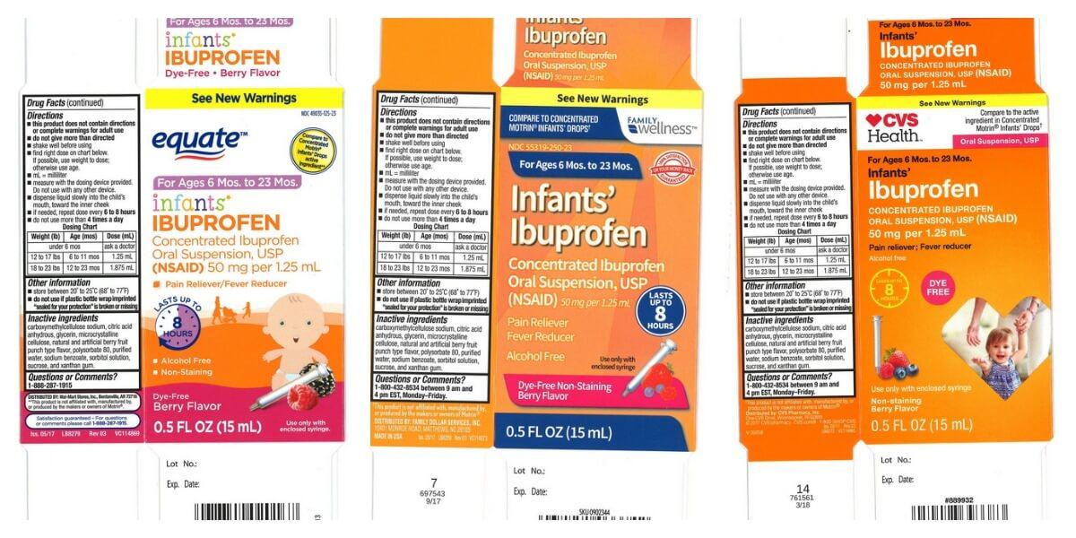 Infant Ibuprofen Recall 2018