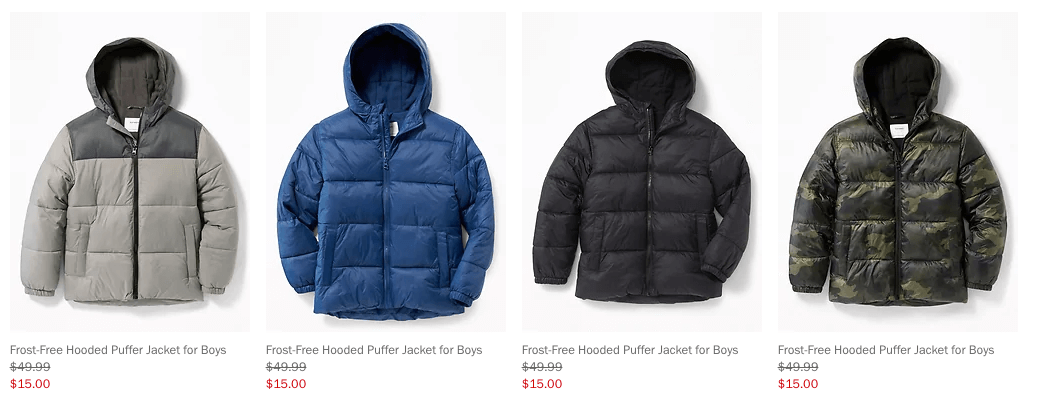 747daaae6 Frost Free Puffer Jackets for the Family Starting at $15 at Old Navy ...
