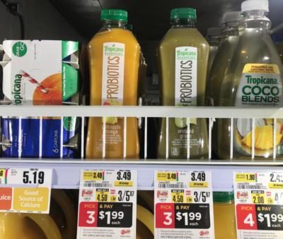Tropicana Essentials Probiotics Juice Just $0.74  at ShopRite!