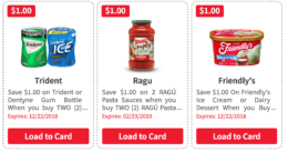 Over $ 76 in New ShopRite eCoupons - Save on Trident, Ragu, Friendly's & More