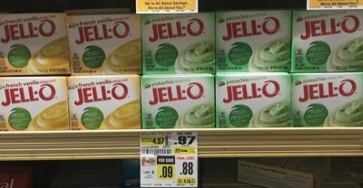 Jell-O Gelatin & Pudding Mixes Just $0.38 at ShopRite!