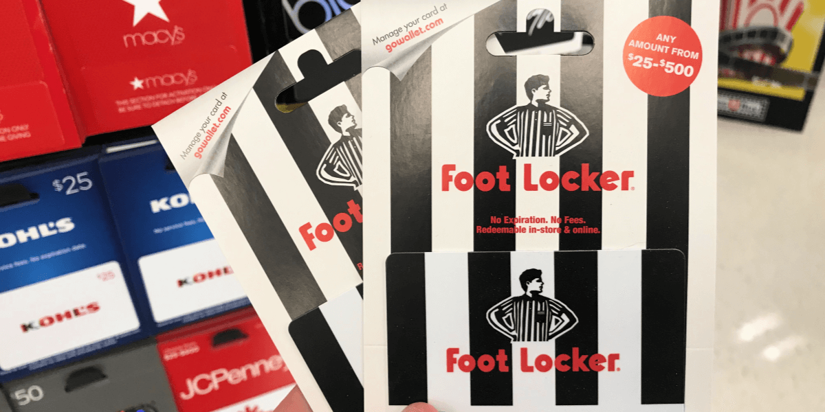 CVS Shoppers Save 10 On Foot Locker Or Go Play Golf Card Gift Cards