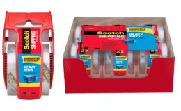 Stock Up! Scotch Heavy Duty Shipping Packaging Tape, 6 Rolls with Dispenser