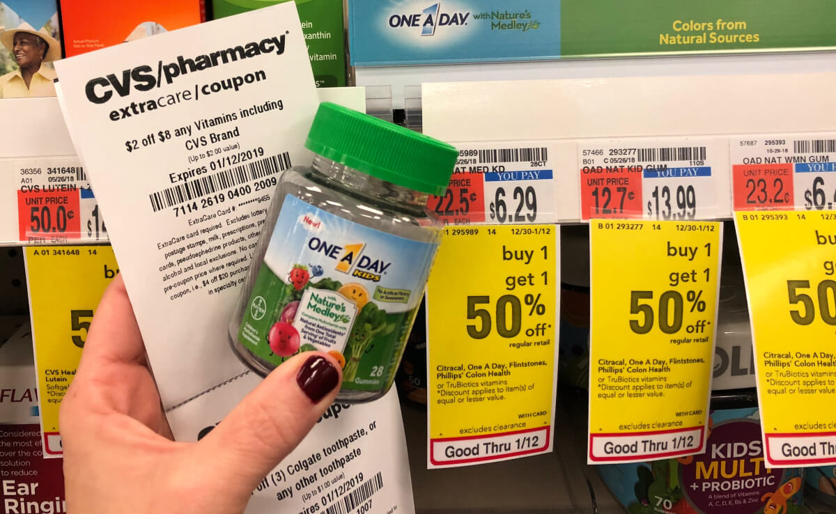 One A Day Vitmain Coupons January 2019