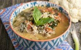 Roasted Cauliflower Rice and Tomato Parmesan Soup Recipe