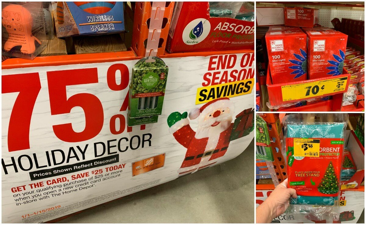 Home Depot After Christmas Clearance 2018