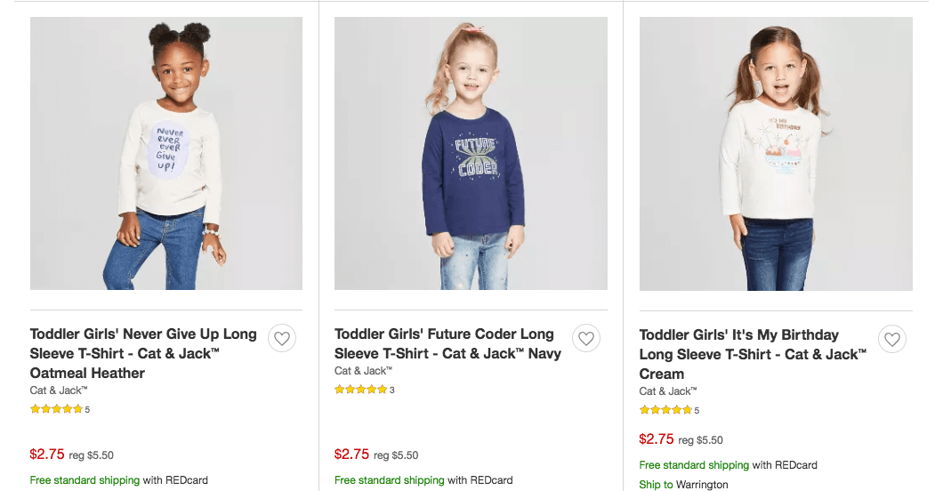 2955894bd34 50% Off Cat   Jack Kid s Clothing at Target!