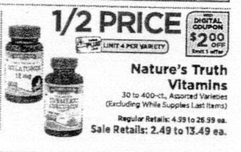 Nature's Truth Coupons January 2019