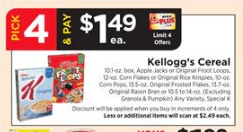 Kellogg's Coupons January 2019