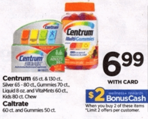 Centrum Coupons January 2019