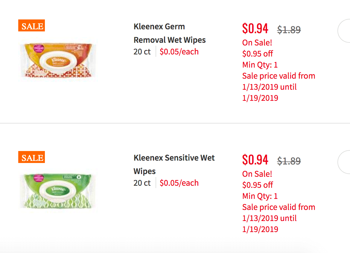 Kleenex Coupon January 2019
