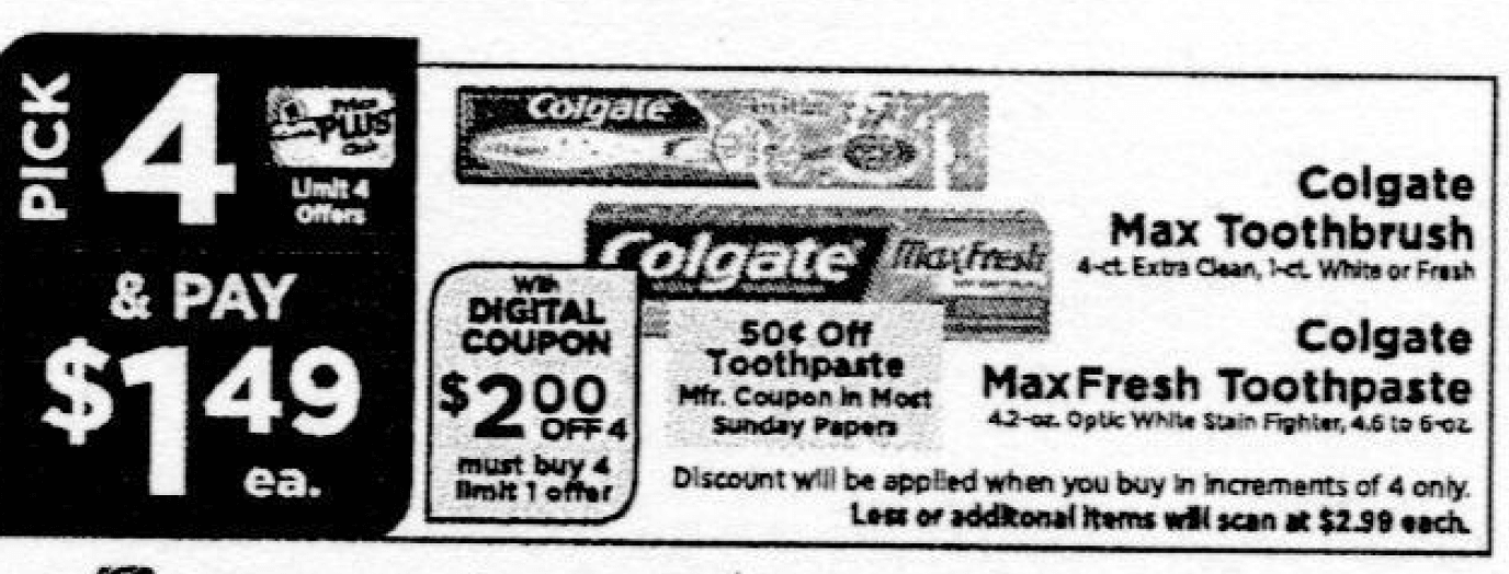 Colgate Toothpaste Coupon January 2019