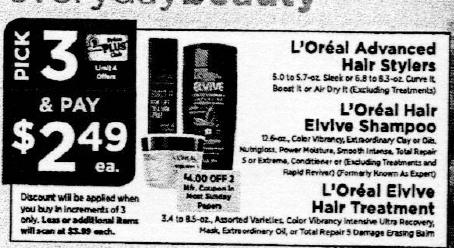 LOreal Shampoo Coupons January 2019