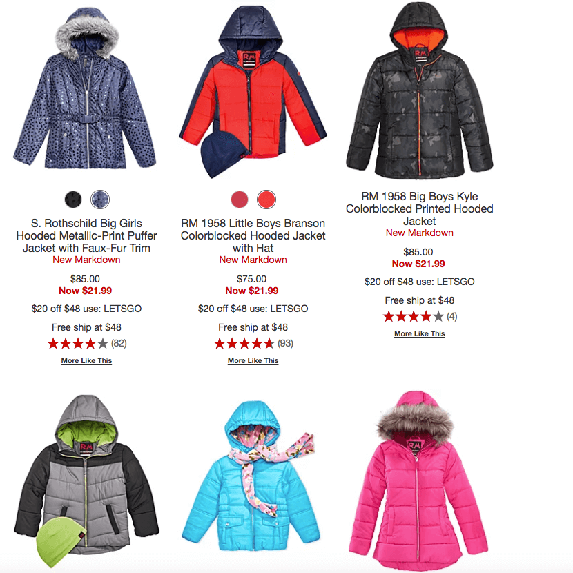 baef0a210b736 Kids' Puffer Jackets just 2 for $28.97 {$14.47 each} at Macy's (Reg ...