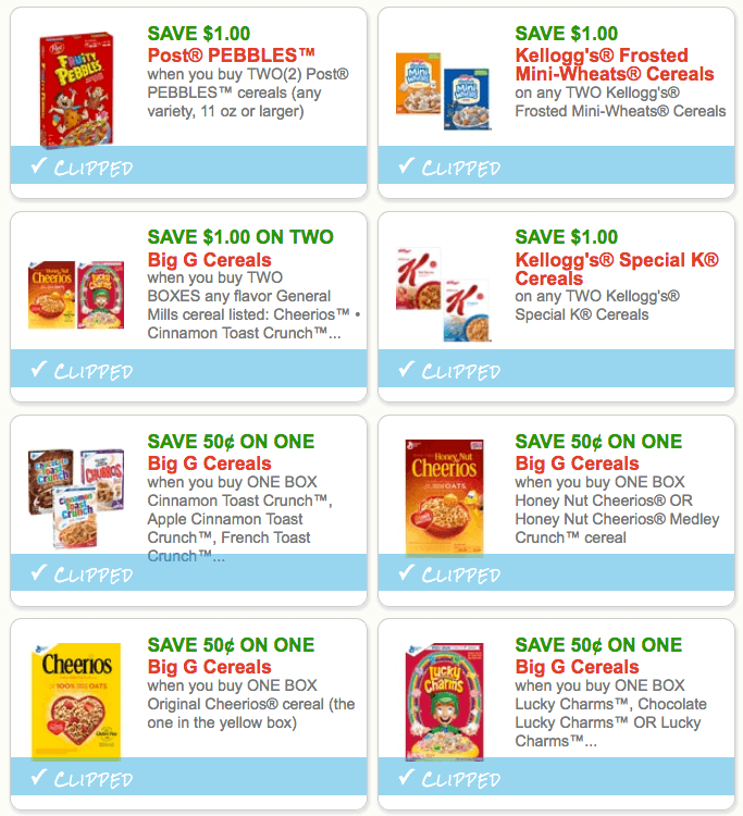 cereal coupon january 2019