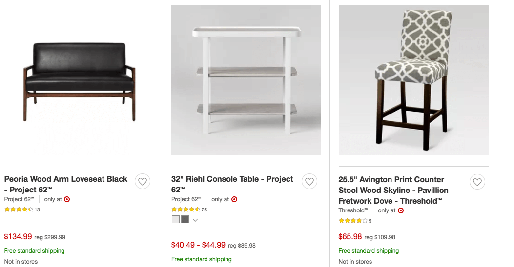 target furniture january 2019