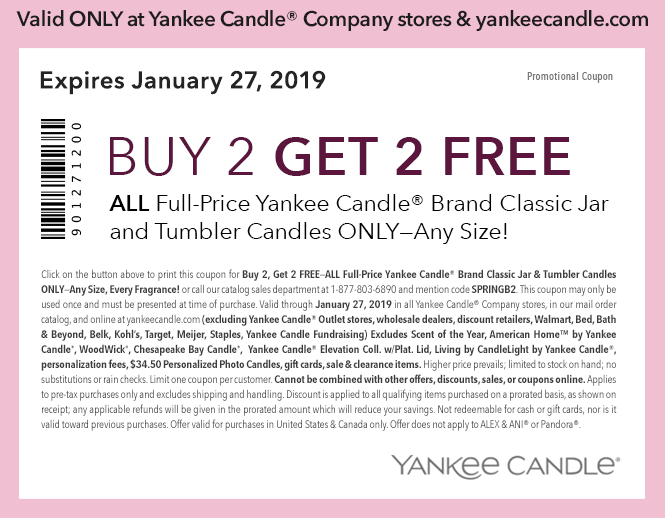 graphic regarding Printable Yankee Candle Coupons referred to as Yankee Candle: Acquire 2 Choose 2 Absolutely free Any Dimensions Jar or Tumbler