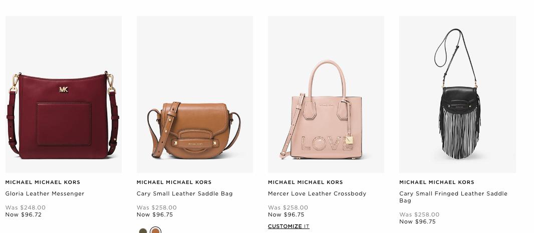 f841bd7ffbf09b Michael Kors Semi-Annual Sale - Up to 70% off Handbags, Wallets ...