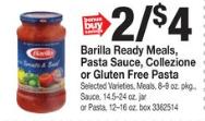 Barilla Pasta Sauce Coupons January 2019