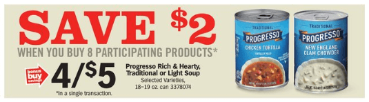 Progresso Soups Coupons January 2019