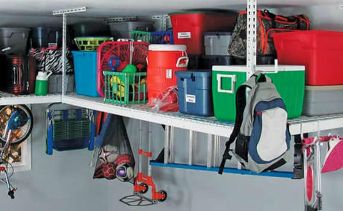 Costco Saferacks Overhead Garage Storage Combo Kit Two 4