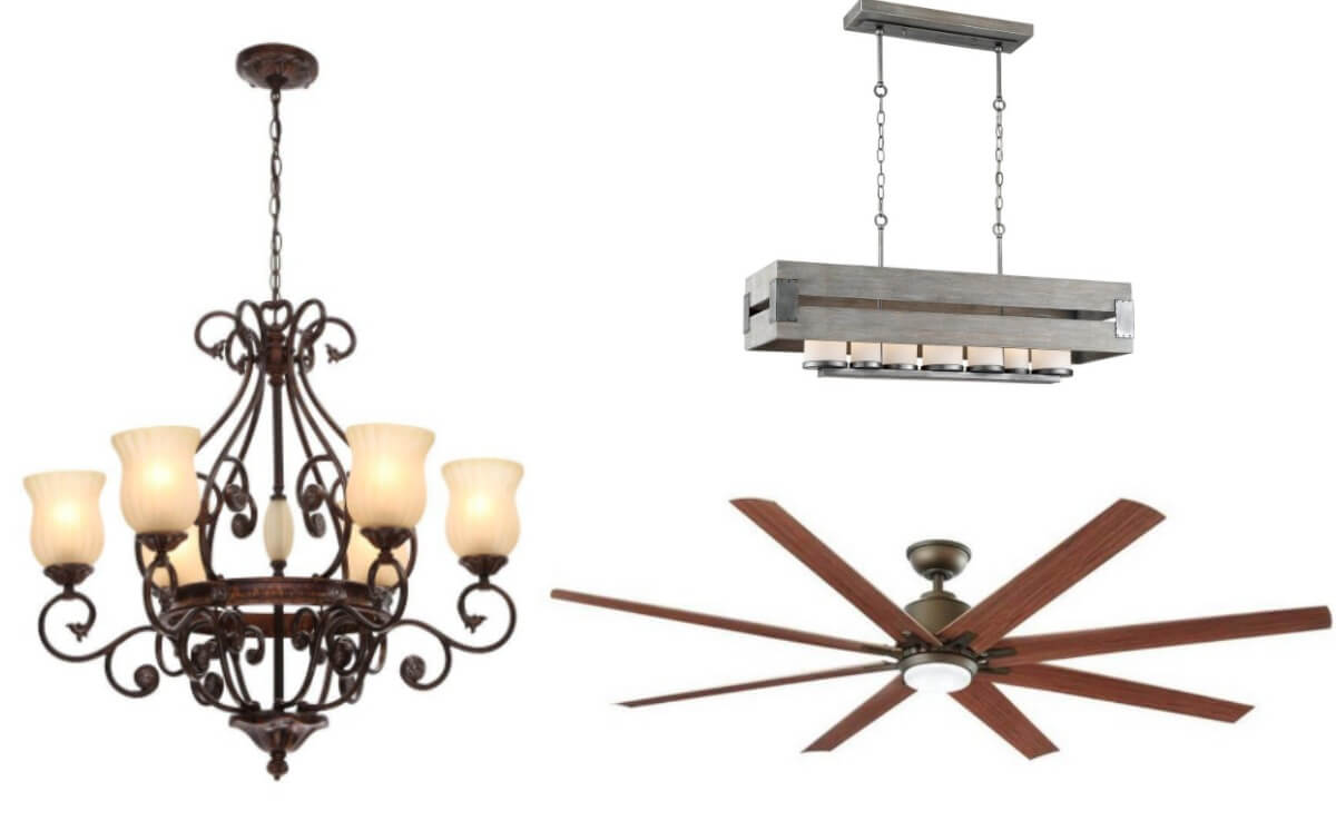 Home depot up to 44 off select ceiling fans light fixtures and home decor