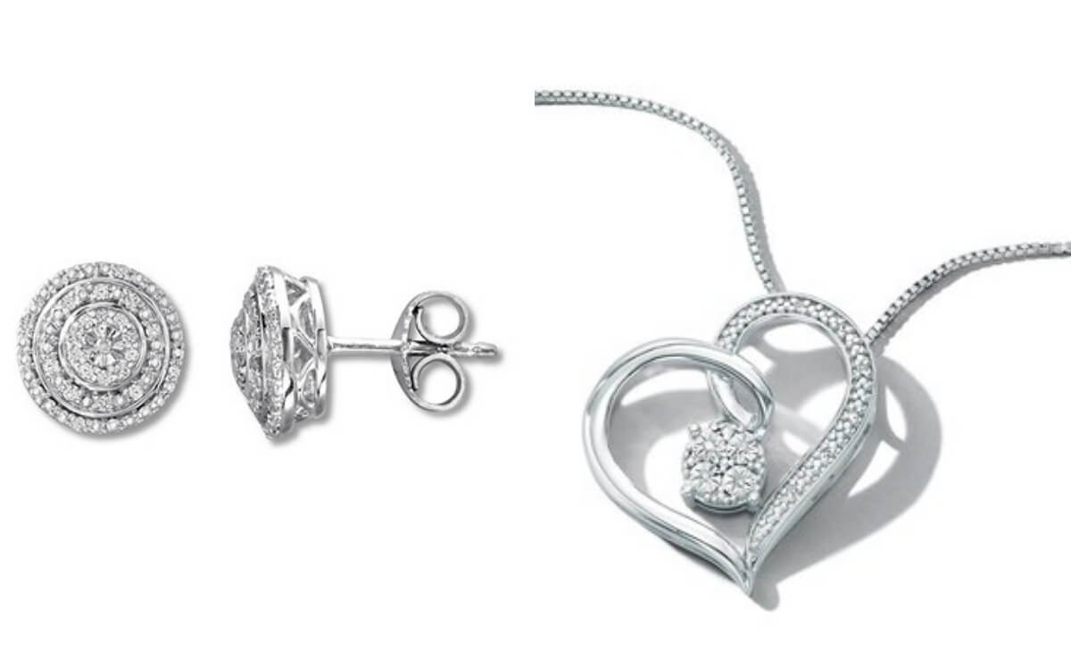 c0a6e1179 Great Valentine's Day Gift! Heart Necklace with Diamonds or Diamond ...