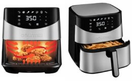 6-Quart Gourmia Stainless Steel Digital Air Fryer Just $54.99 + Free Shipping at Costco