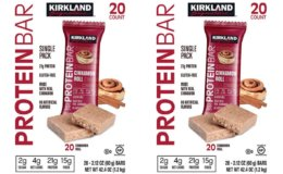 Kirkland Signature Protein Bars, Cinnamon Roll, 20-count, 2-pack $24.99 {$.62/Bar} at Costco