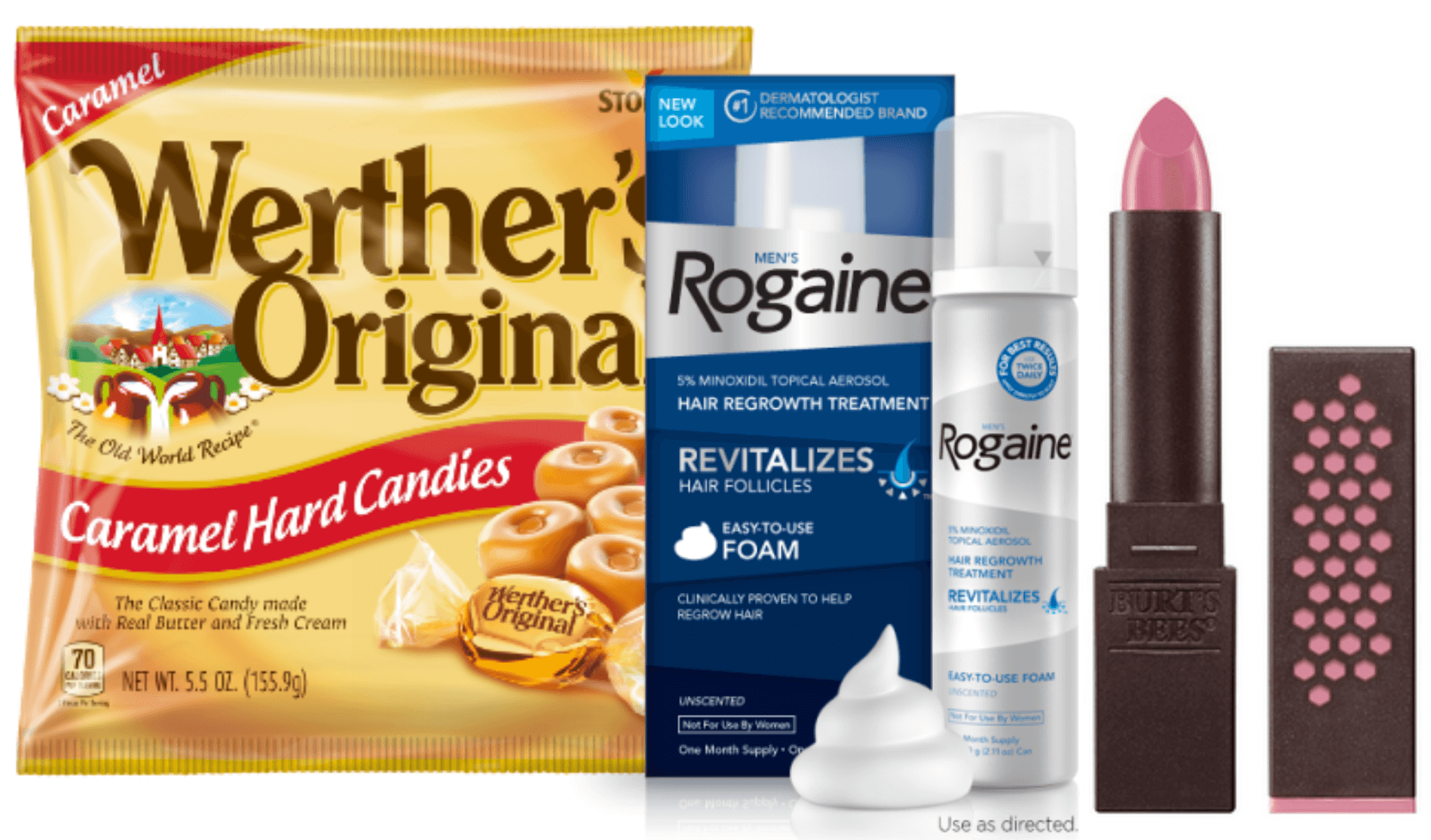 graphic regarding Rogaine Printable Coupon named Todays Final Refreshing Coupon codes - Conserve upon Werthers, ROGAINE, Burts