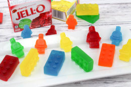 Jell-O Treats Made from Lego Molds