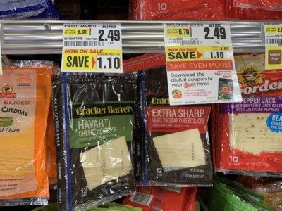 Cracker Barrel Natural Cheese Slices & Kraft Natural Chunk Cheese Just $1.49  at ShopRite!
