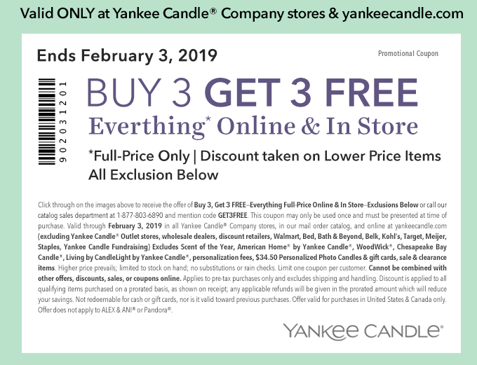 Learn These Yankee Candle Coupon Printable 2019 {Swypeout}