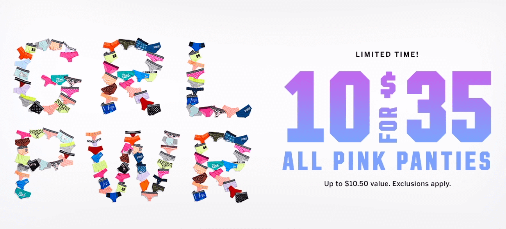 799bfa06c2 10 for  35 Pink Victoria s Secret Panties through 2 18!