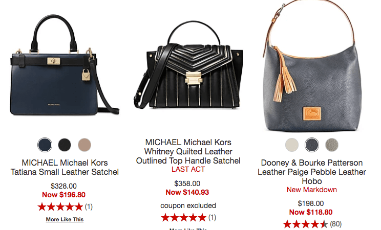 bf8a42557715 Get up to 75% off Name Brand Handbags – MK, Coach, & More!! Get free  shipping on orders of $99 or more or choose free ship to store!