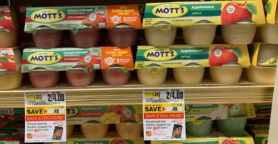 Motts Applesauce 6pk  Cups Just $1.00 at ShopRite!