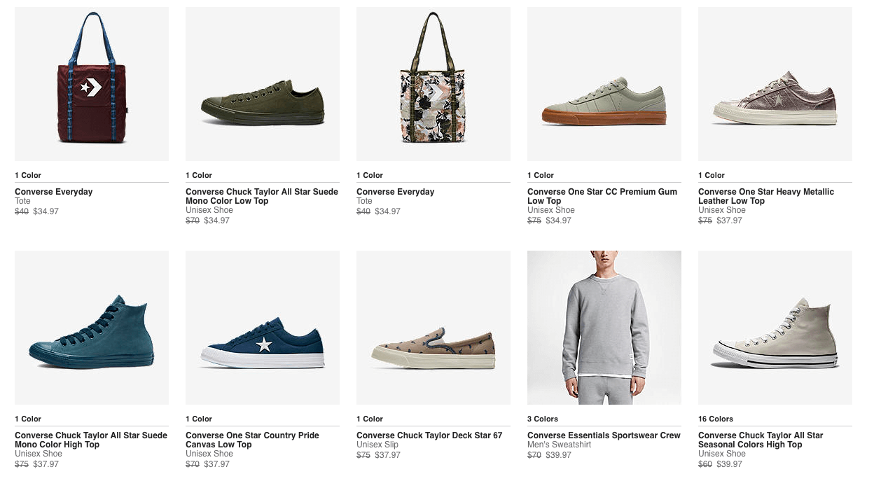 325be38ad4 Converse Additional 30% Off Clearance Sale - Shoes