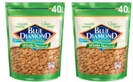 Stock Up Price! Blue Diamond Almonds, Raw Whole Natural, 40 Ounce
