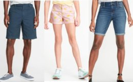 Today Only at Old Navy: 50% off Shorts for the Family + $2 Tanks for Cardholders