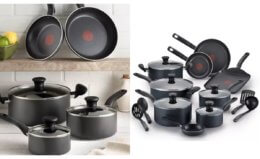 T-Fal Initiatives Nonstick 18 Piece Cookware Set $46.19 (Reg. $99.99) at Macy's