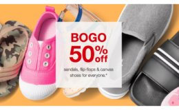 BOGO 50% Off Sandals, Flip-Flops & Canvas Shoes at Target!