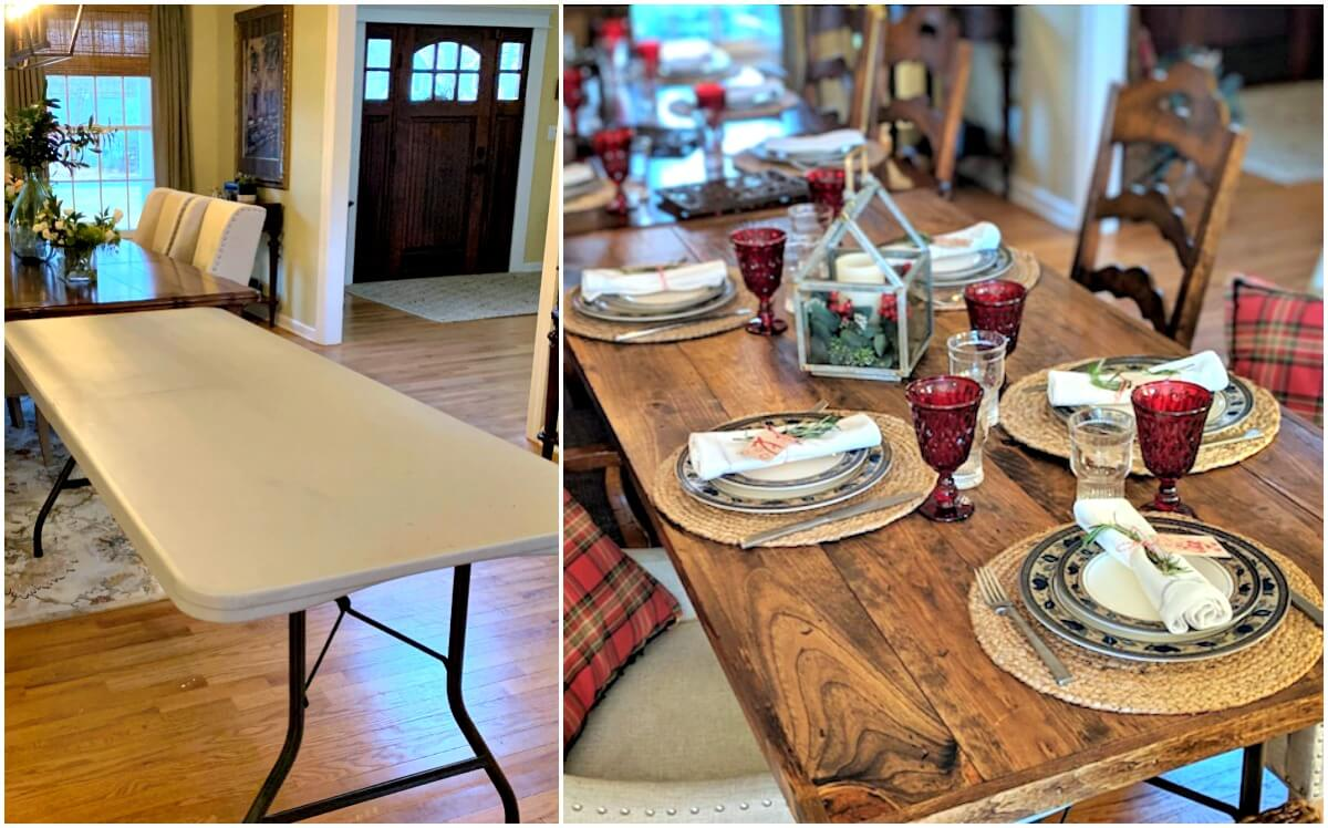 DIY Wood Folding Table