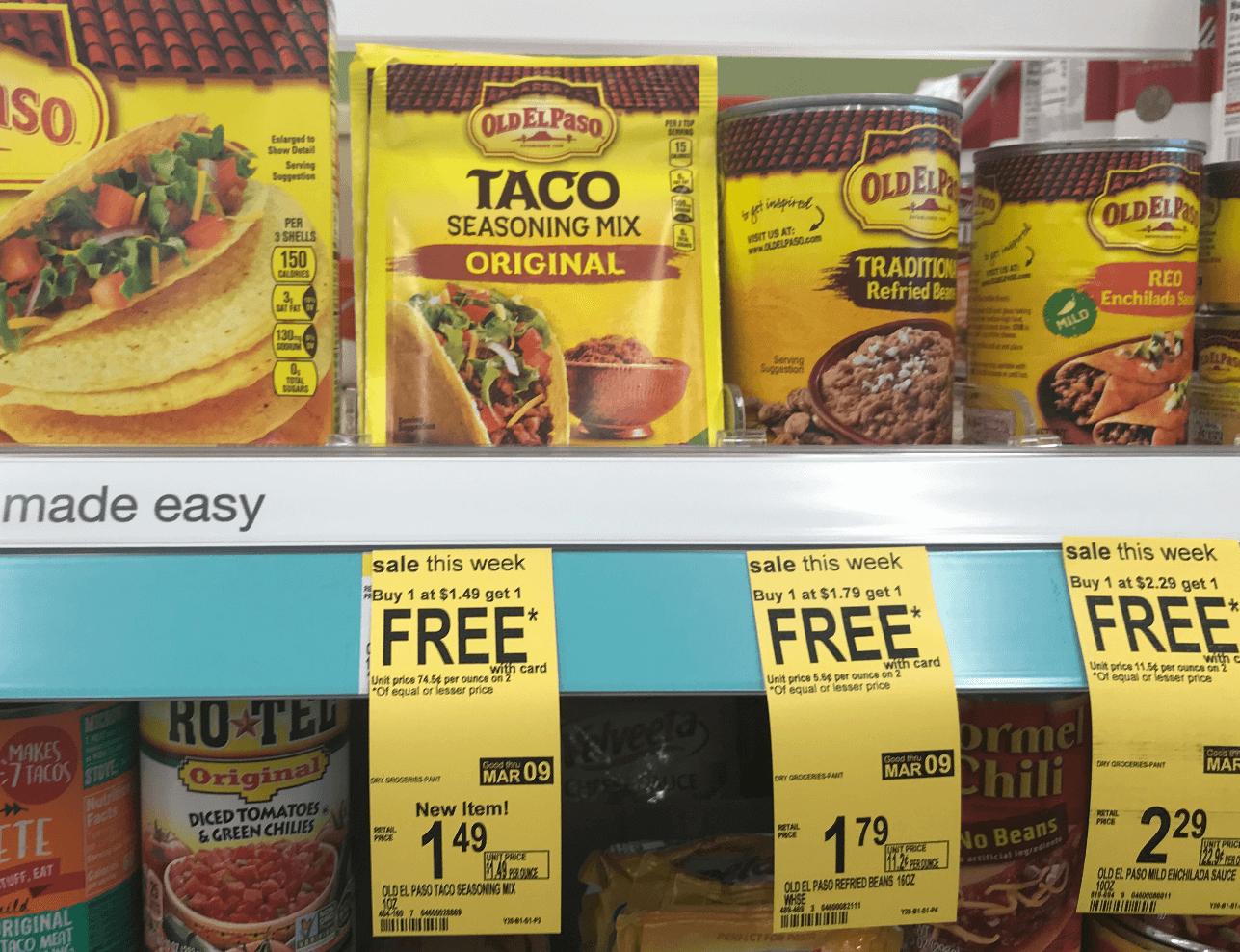 $0.75 Old El Paso Taco Seasoning Mix