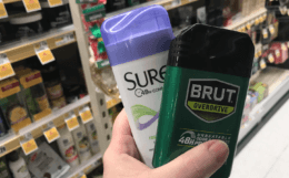 Brut or Sure  Antiperspirant & Deodorant Only $0.49 at ShopRite - Just Use Your Phone!
