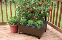 20-in W x 24-in L x 10-in H Earth Brown Resin Raised Garden Bed $19.98 (Reg. $29.98)