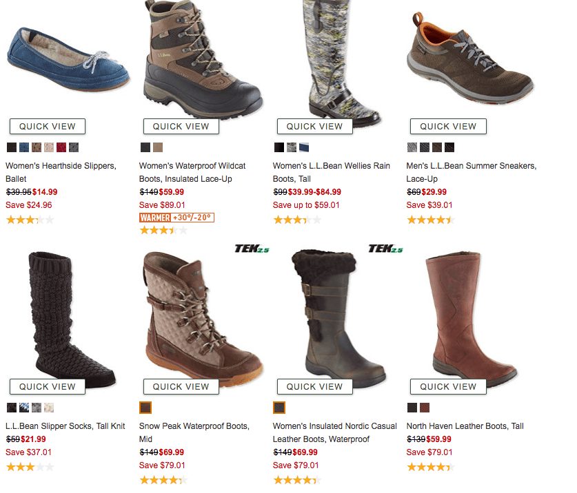 a19eef7d57d Up to 60% Off + Extra 25% Off L.L. Bean Boots, Shoes, & More |Living ...