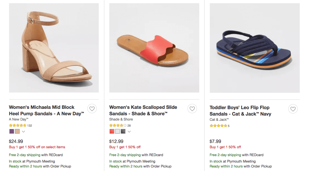 d26087181 Last Day! BOGO 50% Off Sandals
